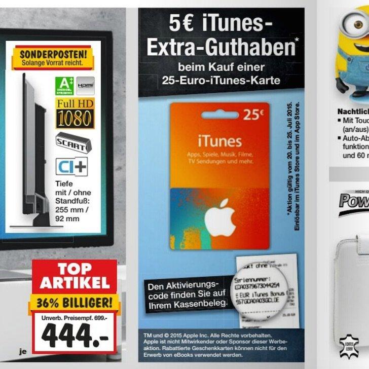 iTunes Guthaben Geschenkkarte Karte Rabatt Guthaben Kaufland Extra-Guthaben