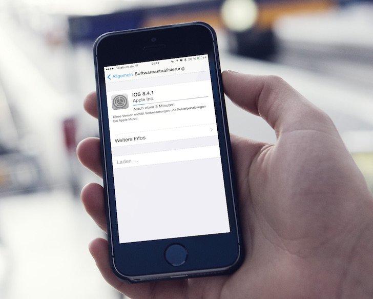 Apple veröffentlicht iOS-Update 8.4.1 Verbesserungen und Fehlerbehebungen