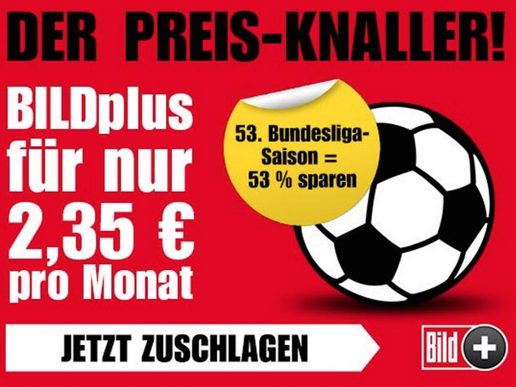 BILD plus BILDplus Bundesliga Abo Rabatt Angebot Saison Bundesliga 2