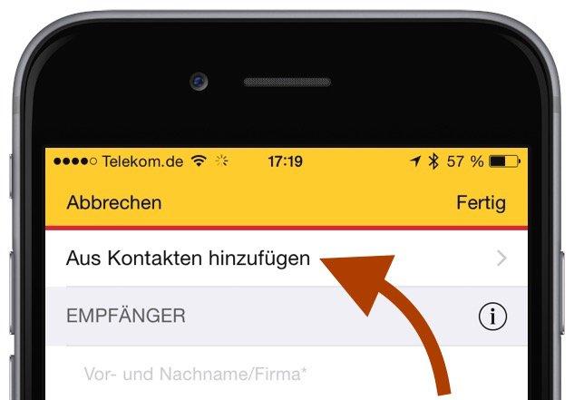 DHL Post Paket Päckchen Porto frankieren Smartphone iPhone iPad Android App Update 2