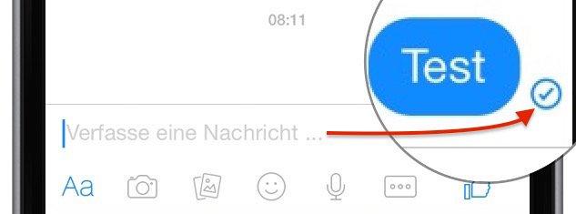 Facebook Messenger Symbole Gesendet Übertragen Zugstellt Icon 1