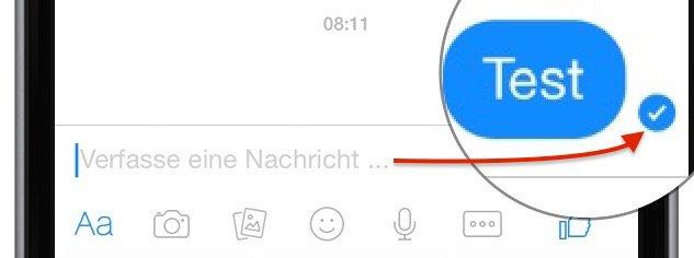 Facebook Messenger Symbole Gesendet Übertragen Zugstellt Icon 2