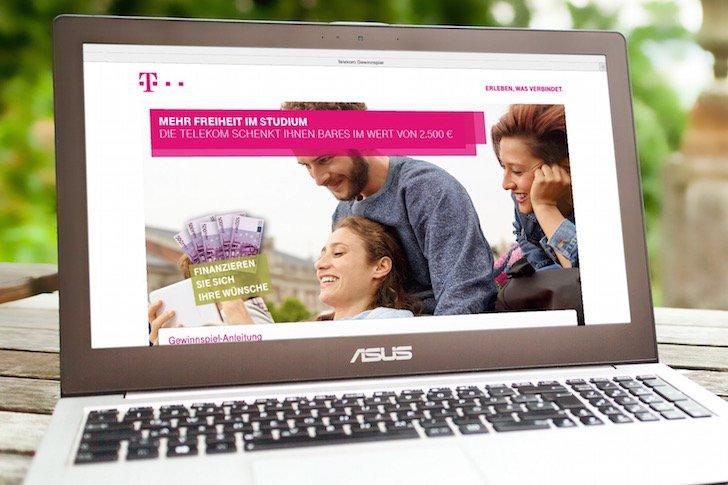 Stipendium-Gewinnspiel Die Telekom schenkt Ihnen Bares