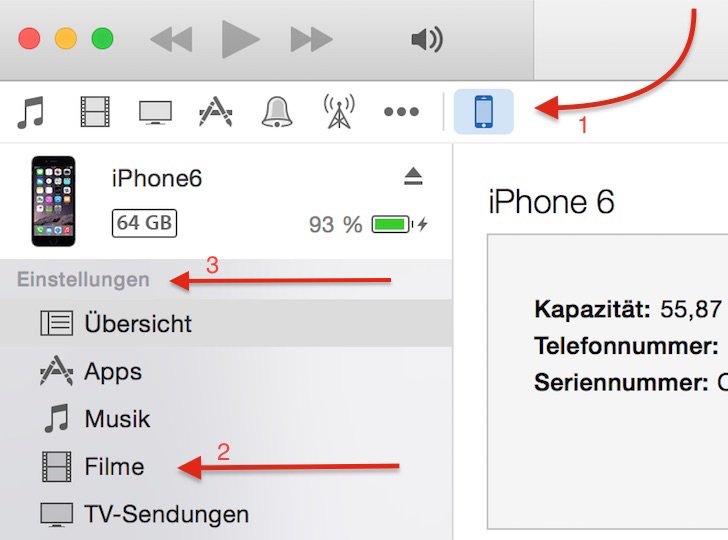 Video kopieren übertragen iPhone iPad PC Computer Windows Mac save.tv AVI MP4 H.264 H264 Videoformat 3a