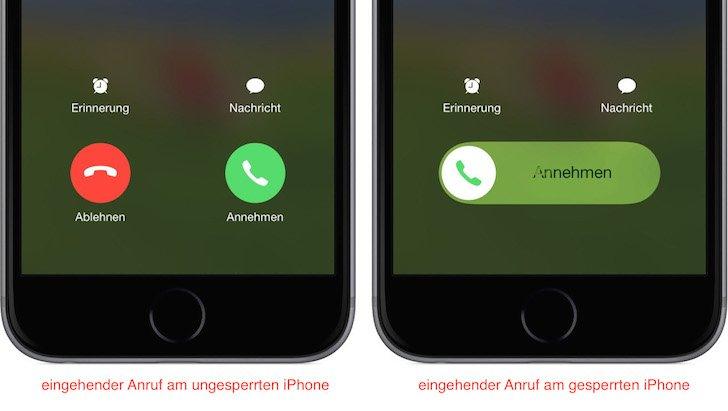 iPhone Anruf abweisen sperren Sperrbildschirm nicht annehmen 1