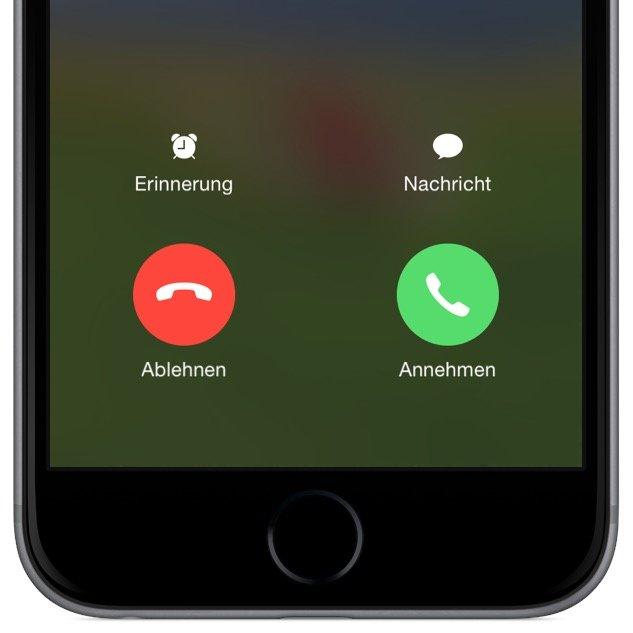 iPhone Anruf abweisen sperren Sperrbildschirm nicht annehmen 2