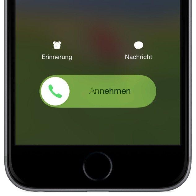 iPhone Anruf abweisen sperren Sperrbildschirm nicht annehmen 3