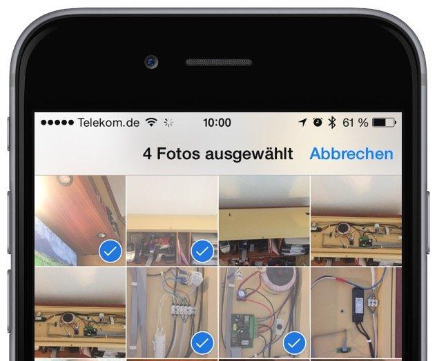 iPhone Foto Photo löschen delete Sammelbefehl alle einzeln Trick Momente markieren 4