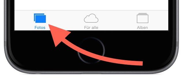 iPhone Foto Photo löschen delete Sammelbefehl alle einzeln Trick Momente markieren 5