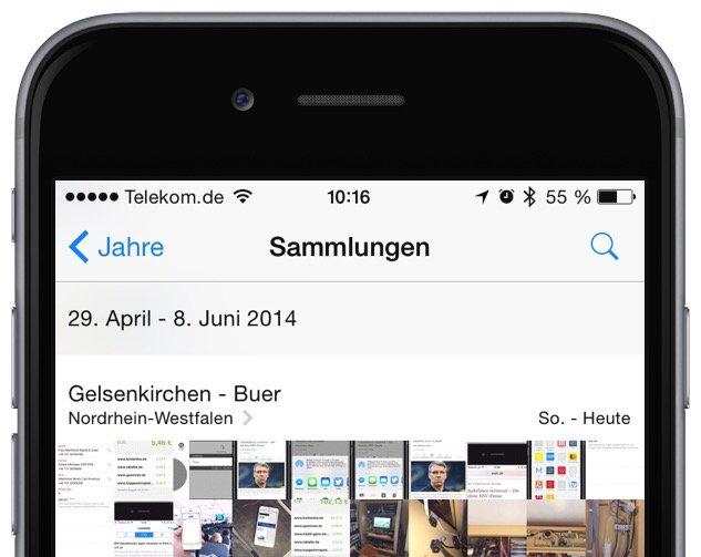 iPhone Foto Photo löschen delete Sammelbefehl alle einzeln Trick Momente markieren 6