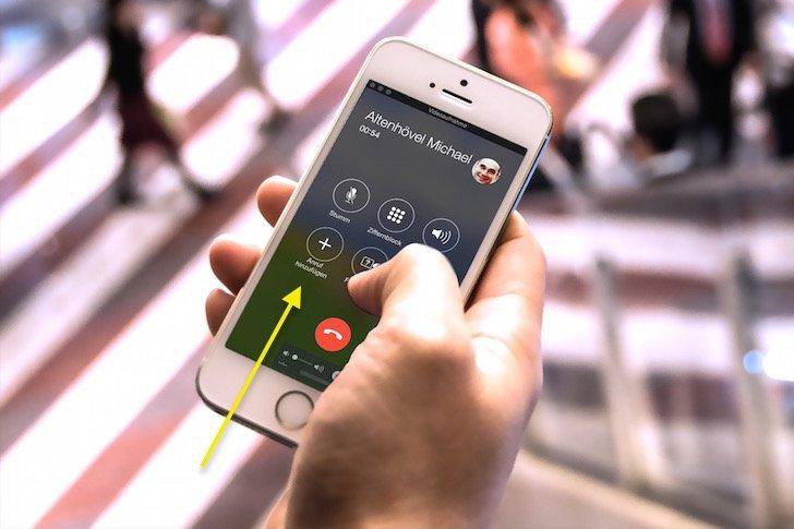iPhone Makeln Dreierkonferenz Dritter zweiter Anrufer wechseln 1