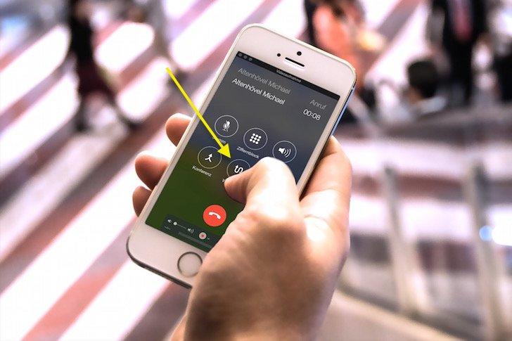 iPhone Makeln Dreierkonferenz Dritter zweiter Anrufer wechseln 2