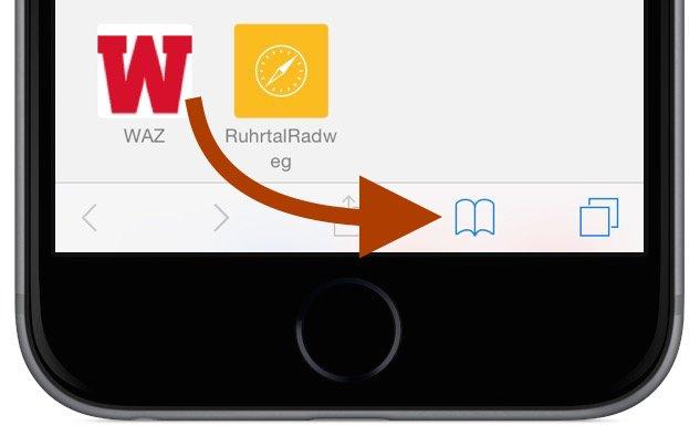 iPhone Safari Internet Browser Artikel Beitrag offline lesen Leseliste Lesezeichen Favorit Flugzeug Flugmodus 4