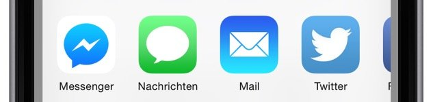 iPhone Teilen empfehlen versenden Safari Aktion 4a