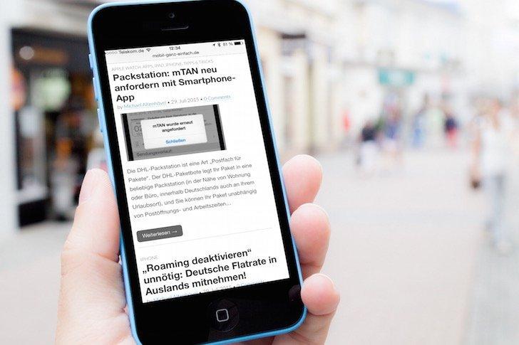 iPhone Website als Icon am Homescreen anzeigen 1