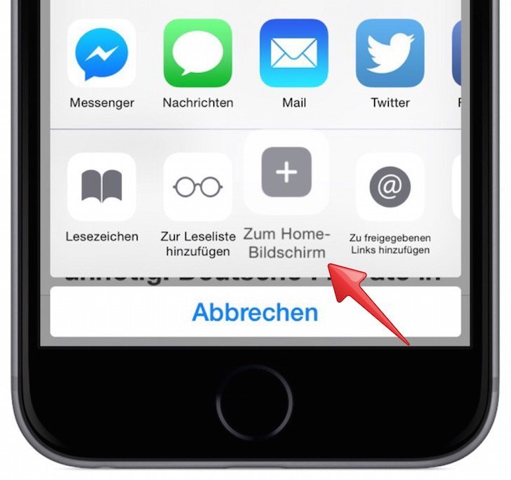 iPhone Website als Icon am Homescreen anzeigen 3