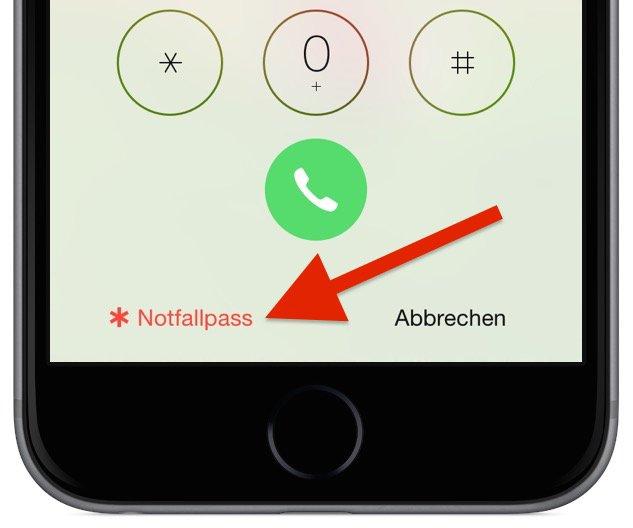iPhone,Notfall,Opfer,Krankenhaus,Rettungsdienst,Notfallpass,Angehörige,Anruf,Telefon;Blutgruppe,Medikamente Aid 13