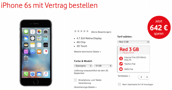 129,90 EUR (Originalpreis bei Apple 739,00 EUR