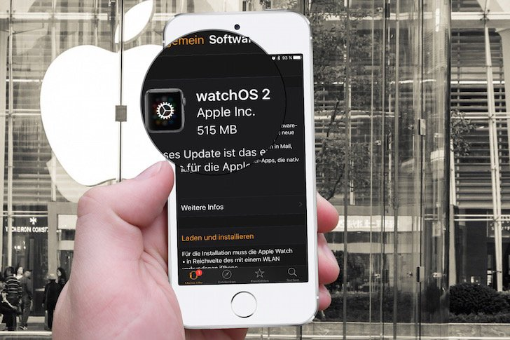 Apple Watch iPhone WatchOS 2.0 Update Upgrade Aktualisierung verschoben 1