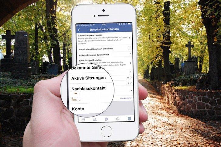 Facebook iPhone Tod tot Testament Nachlass Nachlasskontakt Familienmitglied zustoßen Datenarchiv löschen Todesfall Erinnernungen 6