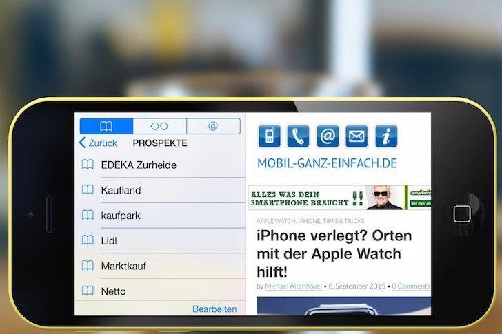 Safari Schnellzugriff auf iPhone-Favoriten ohne Fingertippen 1