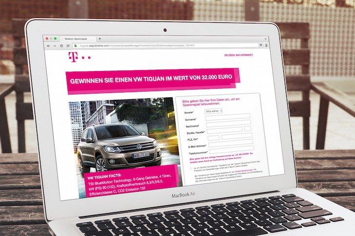 Telekom-Gewinnspiel VW Tiguan zu gewinnen