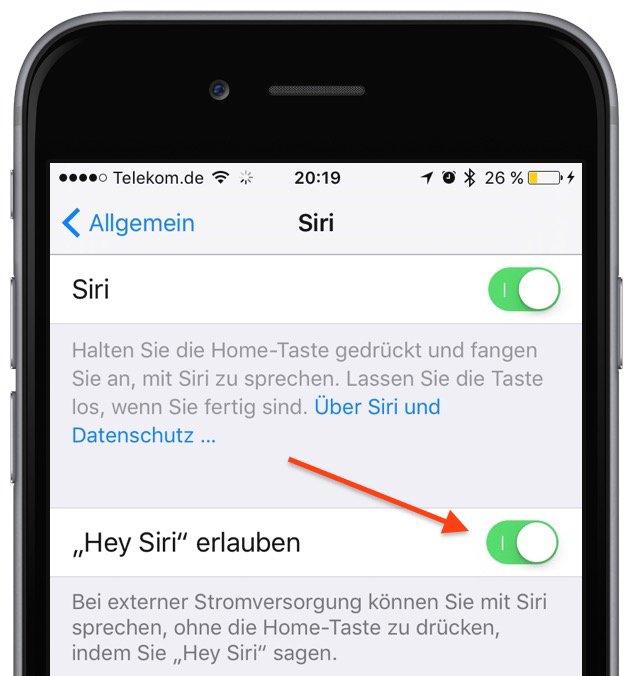 iOS 9 iPhone 6s Siri Stimme konfigurieren gewöhnen anlernen erkennen Einstellungen Allgemein Sprachkommando 1