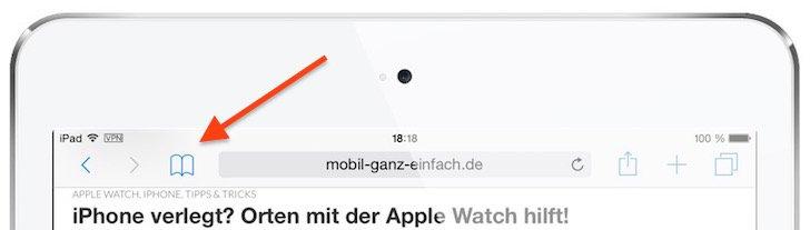 iPad Safari-Leseliste einsetzen 2