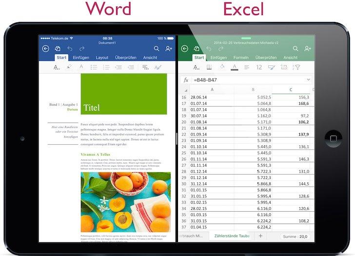 iPad iOS9 iOS 9 Split Screen Split View Geteilter Bildschirm App nebeneinander teilen Multitasking gemeinsam 2