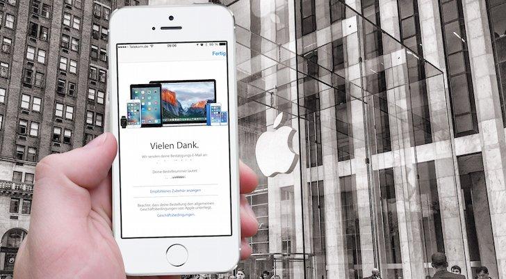 iPhone 62 Bestellung Apple Store Online Bestätigung