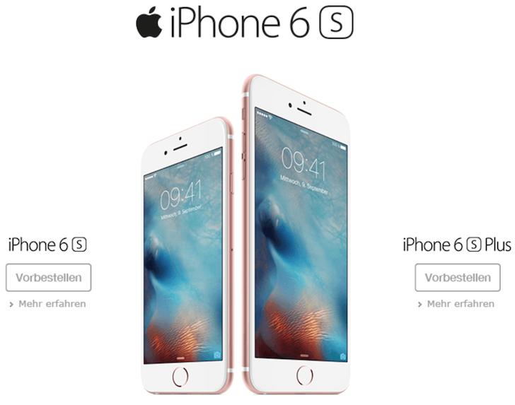 iPhone 6s bei O2 Rechtzeitig bestellen