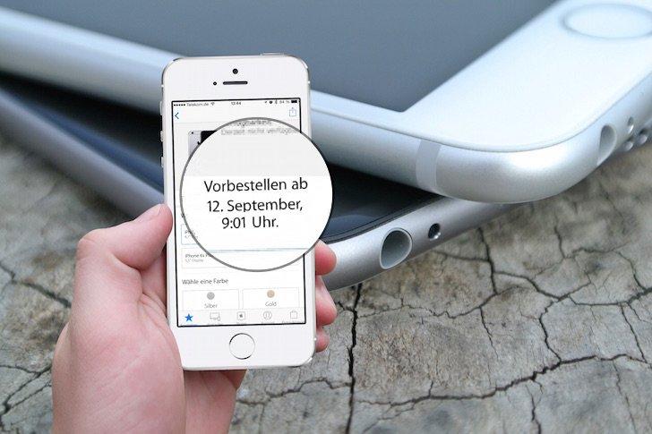 neues iphone 6s bestellen termin und uhrzeit stehen fest mobil ganz. Black Bedroom Furniture Sets. Home Design Ideas