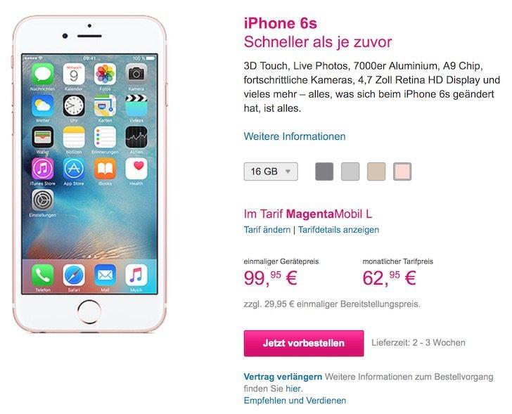 iPhone 6s und 6s plus bei T-Mobile bestellen 1