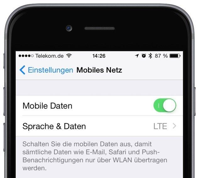 iPhone-Internet-E-Mail-Benachrichtigung-WhatsApp-Spiegel-BILD-Datenverkehr-Traffic-WLAN-Router-Mobilfunk-Provider-SIM-Karte-Mobile-Daten-Mobiles-Netz