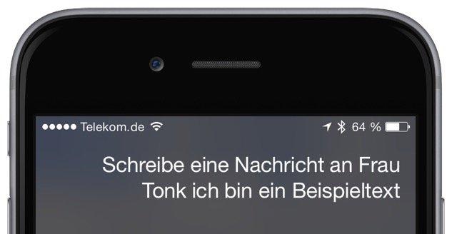 iPhone SMS iMessage Siri Sprachkommando schreiben versenden senden 1