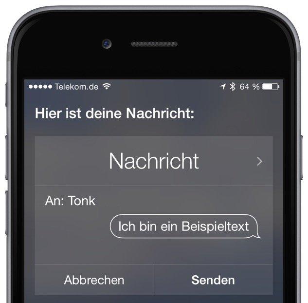 iPhone SMS iMessage Siri Sprachkommando schreiben versenden senden 2
