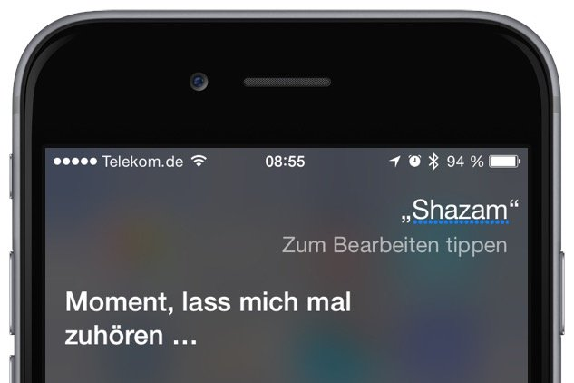iPhone Siri Musik Titel Interpret Shazam 2