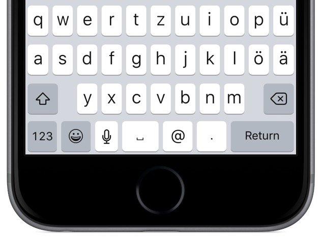 iPhone iOS 9 Apple Tastatur Kleinbuchstaben Grossbuchstaben umstellen Update Tastaturlayout 2