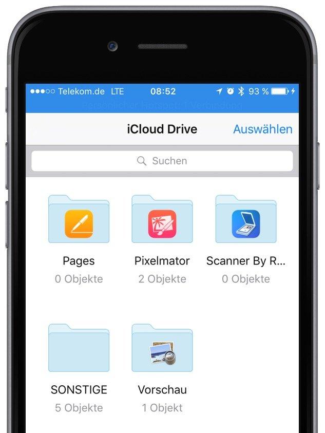 iPhone iOS 9 iCloud Homescreen Symbol App Datenwolke anlegen löschen entfernen 3