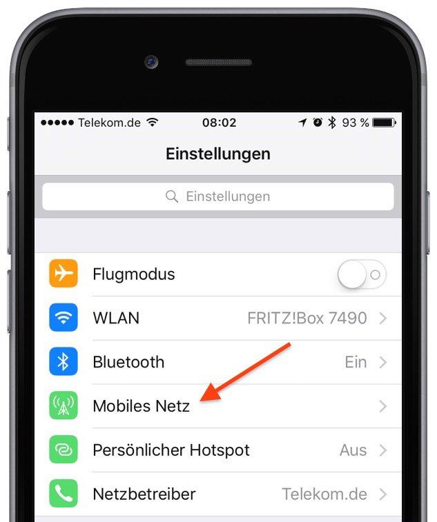 iPhone iOS9 WLAN Assist Funktion erhöht mobilen Datenverbrauch 1
