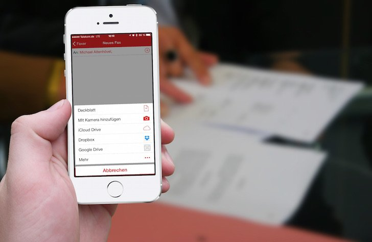 iPhone iPad Fax Telefax versenden unterwegs Faxer iOS Mac HOsy App 1