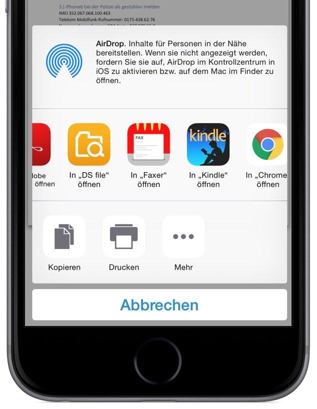 iPhone iPad Fax Telefax versenden unterwegs Faxer iOS Mac HOsy App 3