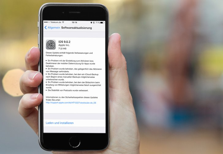 iPhone iPad iOS9 Update neu iOS 9.0.2