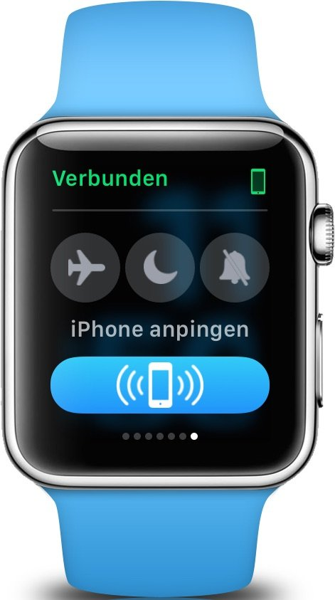 iPhone verlegt Orten Apple Watch Lautlos Klingelton Ruhemodus Flugmodus 3