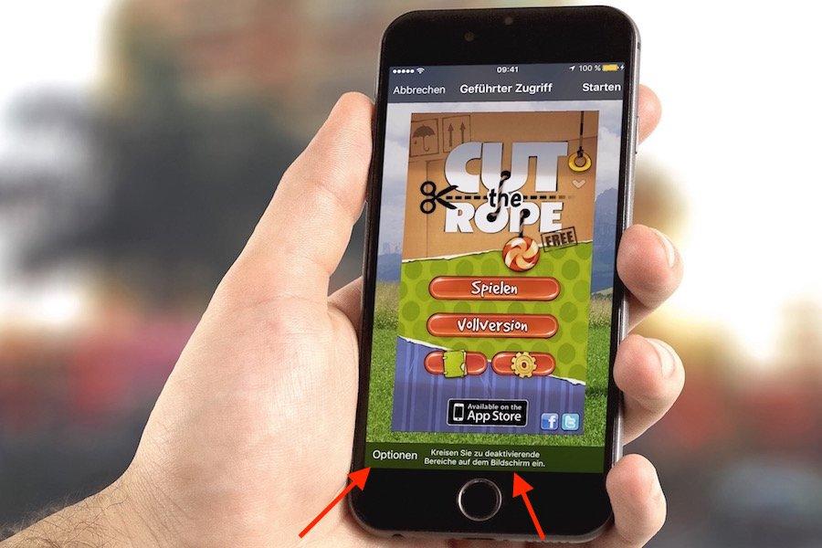 Apple iPhone Kind Kinder Zugriff sperren freigeben einschränken eine einzelne App geführter Zugriff 1