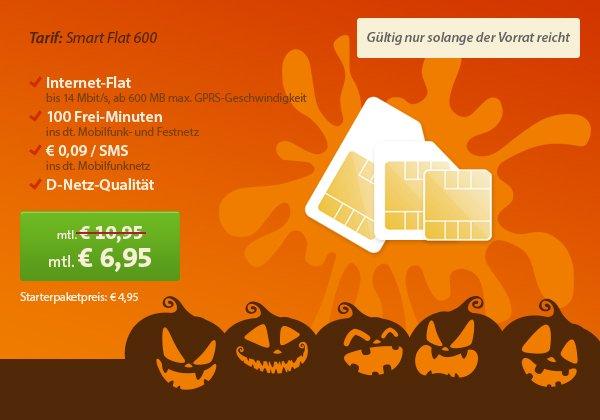 D-Netz ab 6,95 EUR mit 600 MB Datenvolumen