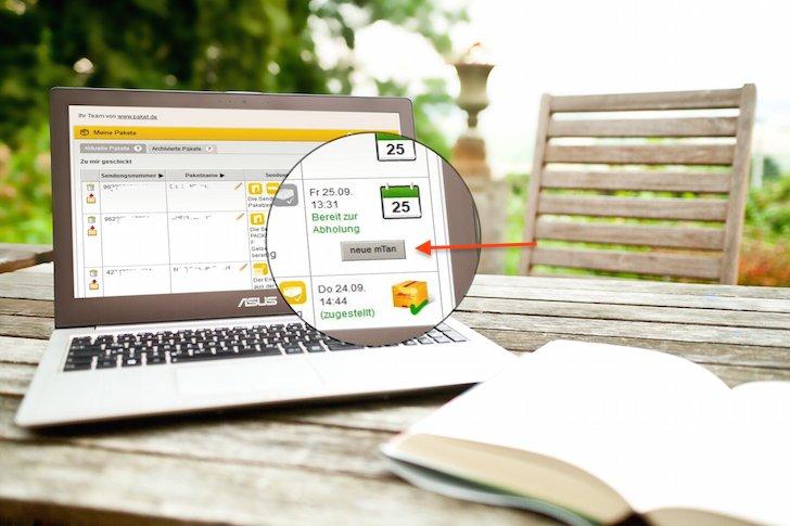 DHL Deutsche Post Packstation Paket Päckchen mTAN TAN mobile Transaktionnsummer neu senden generieren verloren nicht erhalten 2