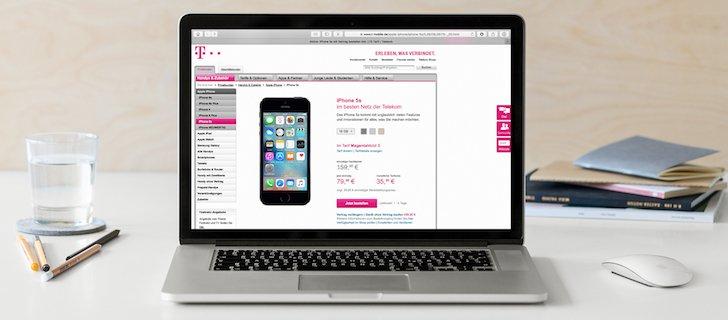 Nur Online 50 Prozent auf das iPhone 5s sparen bei T-Mobile Neukunden Rabatt