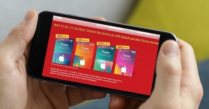 Penny Rabatt iTunes Karten Geschenkkarten Oktober 2015 Apple Play STore App Store Book