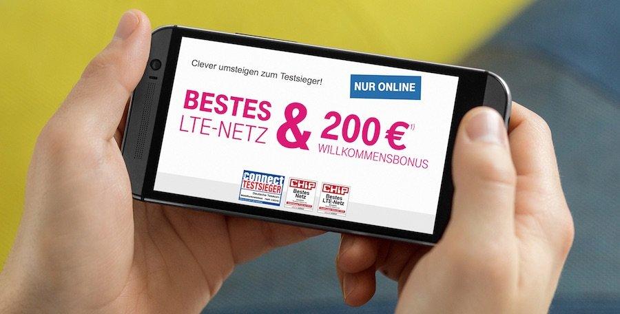 T-Mobile 200 EUR Gutschrift bei Abschluss eines Mobilfunkvertrags